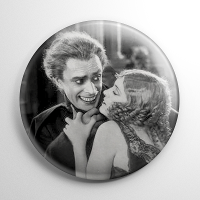 Scream Queen - Mary Philbin Man Who Laughs B&W Button