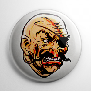 Vintage Halloween Mask Pirate Button