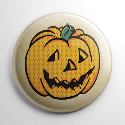 Vintage Halloween - Pumpkin Button