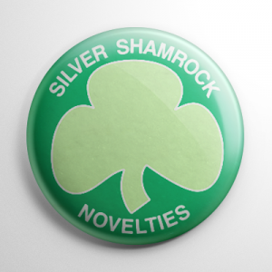 Halloween III Silver Shamrock Novelties Button