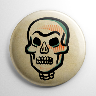 Vintage Halloween - Skull Button
