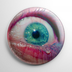 Texas Chainsaw Massacre Scared Eye Button