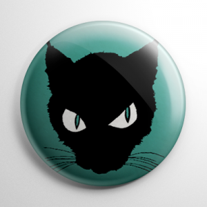 The Black Cat Button
