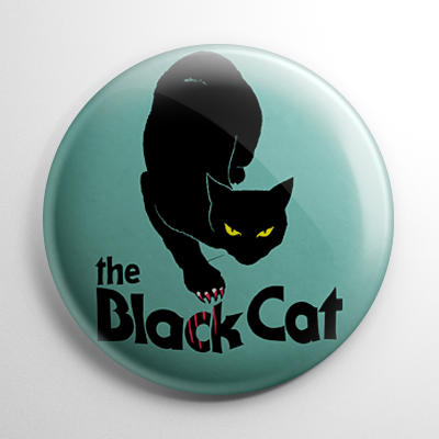 The Black Cat (B) Button