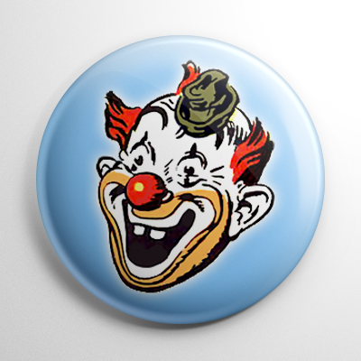 Vintage Halloween Mask Clown (B) Button