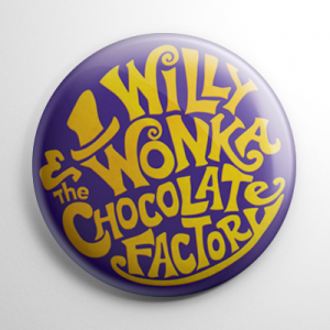 Willy Wonka & the Chocolate Factory Title Button