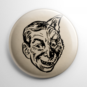 Vintage Halloween Mask Wolfman Button