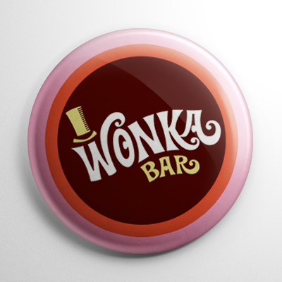 Willy Wonka & the Chocolate Factory Wonka Bar Button