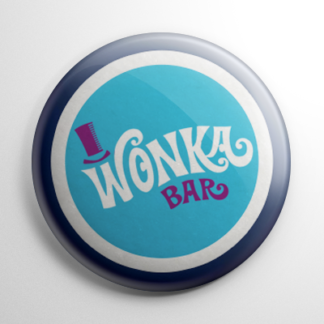 Willy Wonka & the Chocolate Factory Wonka Bar (B) Button