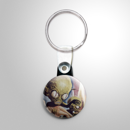 Science Fiction - Invasion of the Saucer Men (A) Keychain