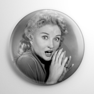 Scream Queen - Carol Ohmart House on Haunted Hill B&W (B) Button