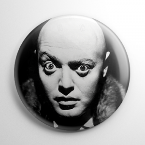 Peter Lorre Mad Love B&W Button