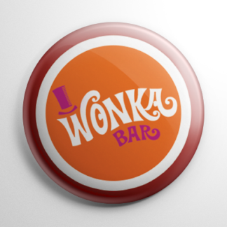 Willy Wonka & the Chocolate Factory Wonka Bar (C) Button