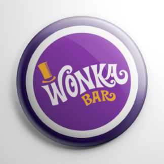 Willy Wonka & the Chocolate Factory Wonka Bar (D) Button