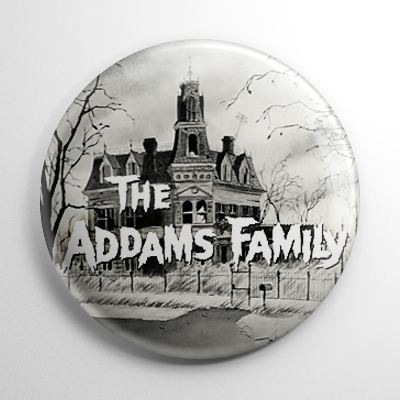The Addams Family Title Button