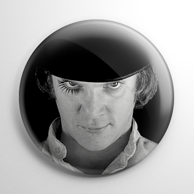A Clockwork Orange Alex Delarge (B&W) Button
