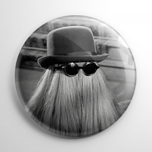 The Addams Family Cousin Itt Button
