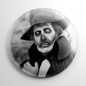 Dr. Death Vincent Price Madhouse B&W Button