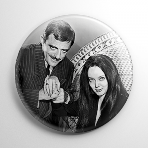 The Addams Family Gomez & Morticia Button