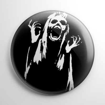 13 Ghosts Screaming Woman Button Horror Buttons