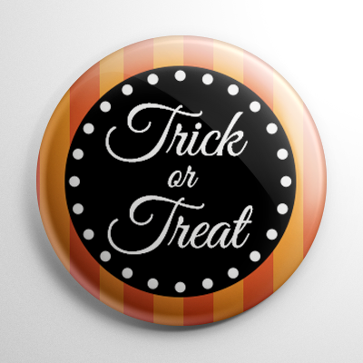 Vintage Halloween - Trick or Treat Button