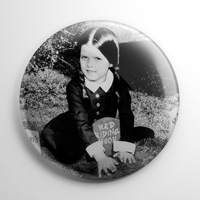 The Addams Family Wednesday Button