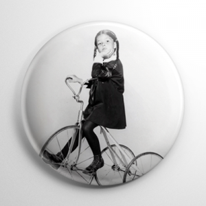 The Addams Family Wednesday (B) Button