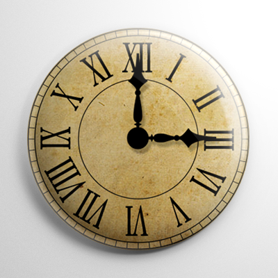 The Witching Hour Clock Button