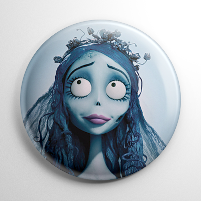 Corpse Bride - Emily the Bride Button