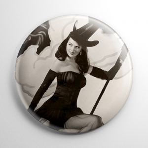 Halloween Pin Up - Dusty Anderson Button