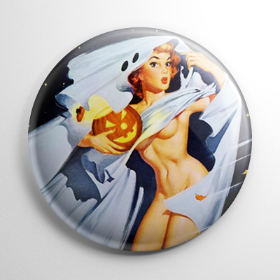 Halloween Pin Up – Ghost Button