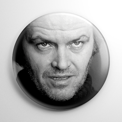 The Shining Jack Torrance (B) B&W Button