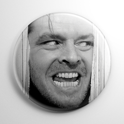 The Shining Jack Torrance B&W Button