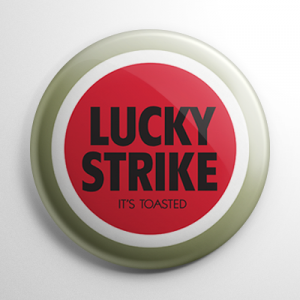 Lucky Strike Cigarette Button