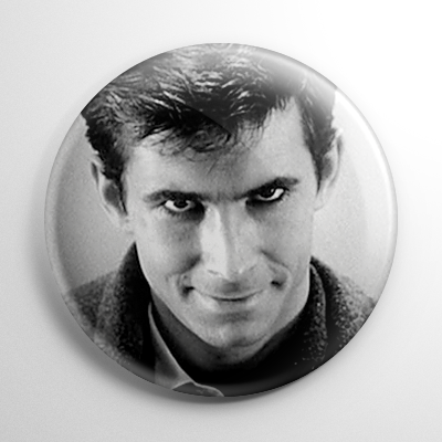 Psycho Norman Bates B&W Button