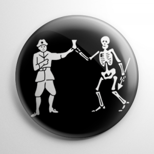 Pirate Flag - Black Bart Button