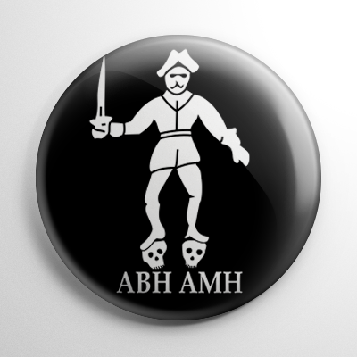 Pirate Flag - Black Bart (B) Button
