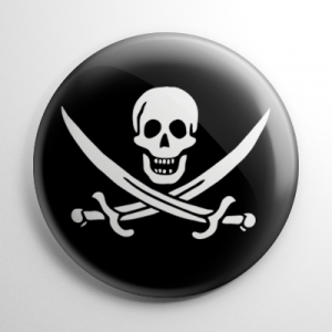 Pirate Flag - Calico Jack Button