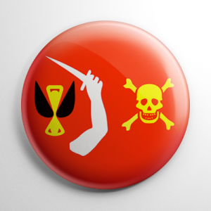 Pirate Flag - Christopher Moody Button