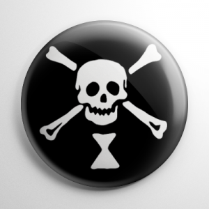 Pirate Flag - Emanuel Wynn Button