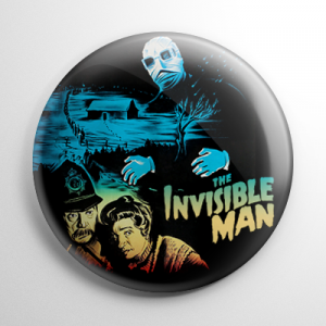 The Invisible Man Poster Button