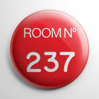 The Shining Room 237 Key Tag Button