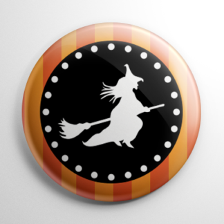 Vintage Halloween - Witch Button