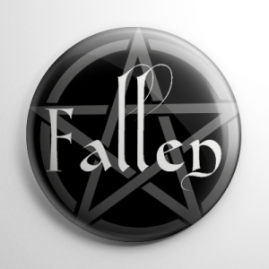 Fallen Pentagram Button