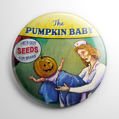 Sideshow – Pumpkin Baby Button
