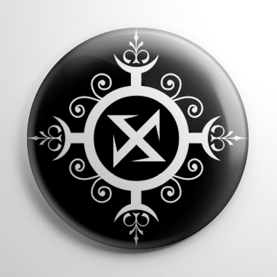 Ragnarök Rune / Wolf's Cross Button