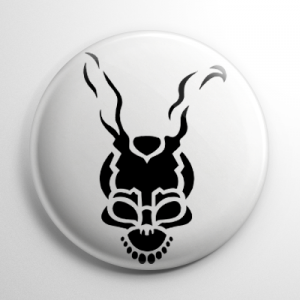 Donnie Darko Stencil (B) Button