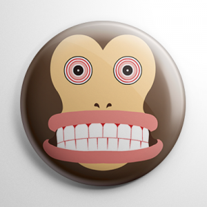 Jolly Chimp Button
