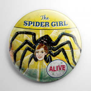 Sideshow - Spider Girl Button