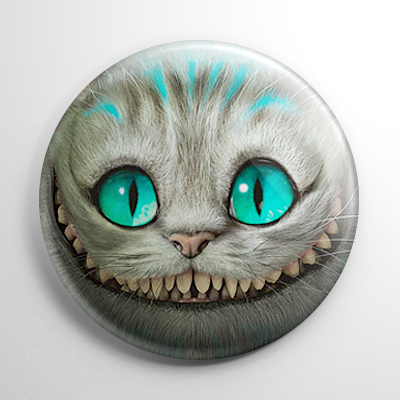 Alice in Wonderland - Cheshire Cat Button